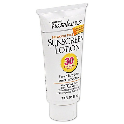 harmon face values 3 oz break out free sunscreen lotion spf 30 buybuy baby. Black Bedroom Furniture Sets. Home Design Ideas