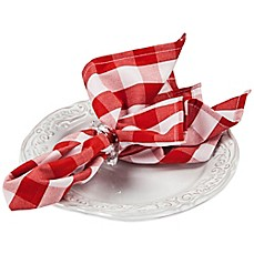image of Riegel® Premier Napkins in Red Check (Set of 6)