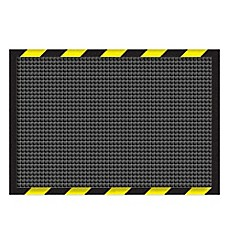 image of Weather Guard™ Garage Mat in Charcoal with Striped Border
