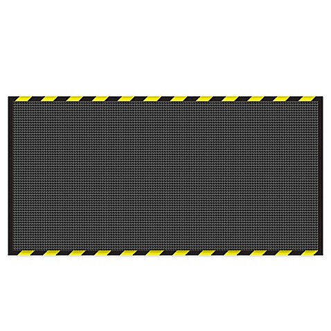 Weather Guard Garage Mat In Charcoal With Striped Border