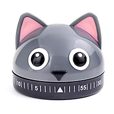 image of Kikkerland® Cat Kitchen Timer in Grey