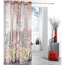 image of New York New York Grommet Top 84-Inch Window Curtain Panel
