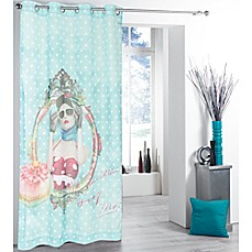 image of Tag City Glamour Girl Printed Sheer Window Curtain Panel