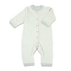image of Tadpoles™ by Sleeping Partners Organic Cotton Footless Snap-Front Romper in Sage
