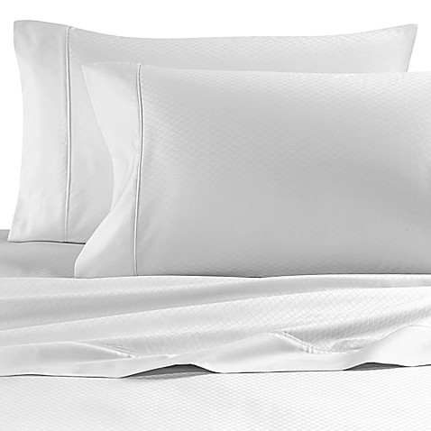 buy wamsutta 620 thread count egyptian cotton deep pocket queen sheet set in white diamond from. Black Bedroom Furniture Sets. Home Design Ideas
