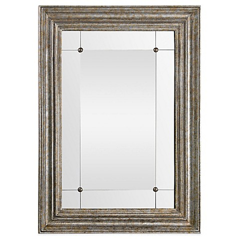 buy ren will 30 inch x 42 inch rectangular charlemagne mirror in gold from bed bath beyond. Black Bedroom Furniture Sets. Home Design Ideas