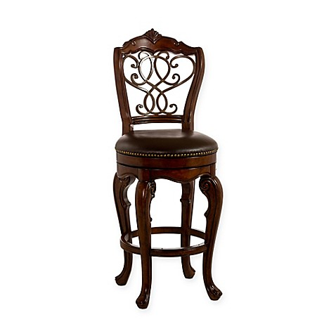 Buy Hillsdale Burrell Wood Swivel Counter Stool In Cherry