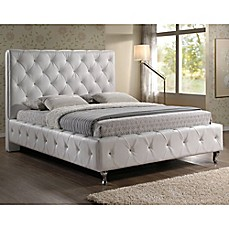 image of Baxton Studio Stella Crystal Tufted Bed with Headboard
