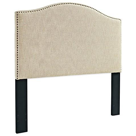 pulaski upholstered headboard with nailhead trim in off white, Headboard designs