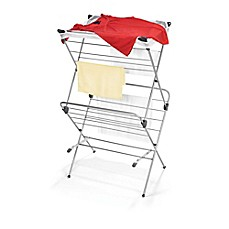 image of Two-Tier Clothes Drying Rack with Mesh Cover