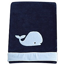 image of Nautica Kids® Mix & Match Velboa Whale Blanket in Navy