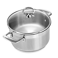 image of Chantal® Induction 21 Steel™ 2 qt. Covered Soup Pot