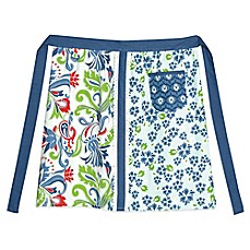 image of Heritage Lace® Nantucket Half Apron in Blue/Red/White