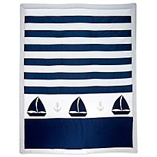 image of Nautica Kids® Mix & Match Striped Sailboat Comforter in Navy/Grey