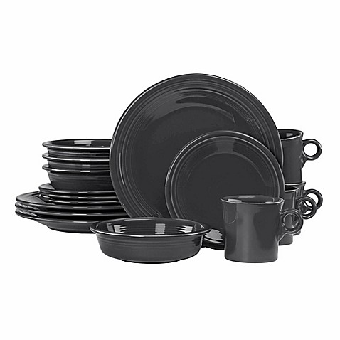 Fiesta\u0026reg; 16-Piece Dinnerware Set in Slate  sc 1 st  Bed Bath \u0026 Beyond & Fiesta® 16-Piece Dinnerware Set in Slate - Bed Bath \u0026 Beyond
