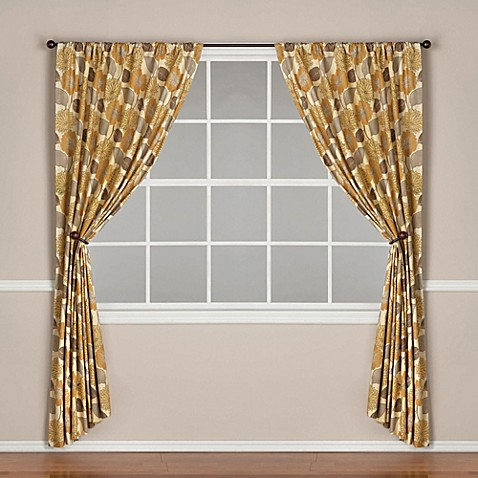 World Market Emma Lined Rod Pocket Window Curtain Panel