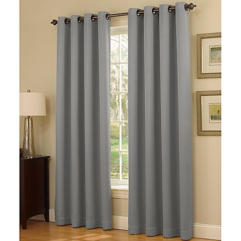 Insola Dorian Thermalayer Grommet Top Window Curtain Panel - Bed ...