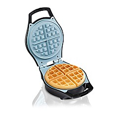 image of Hamilton Beach® Durathon Ceramic Mess-Free Waffle Maker