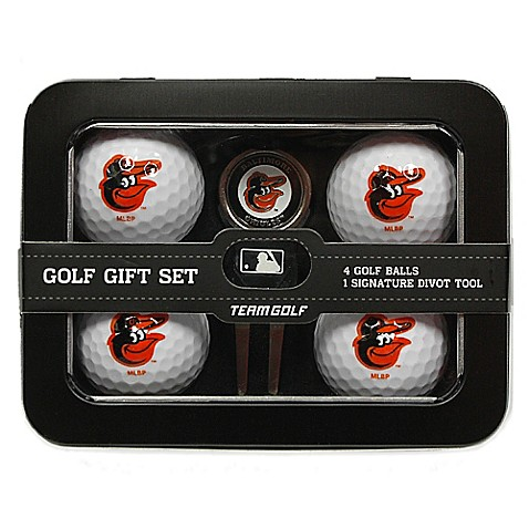 mlb baltimore orioles 5 piece golf ball and divot tool set. Black Bedroom Furniture Sets. Home Design Ideas