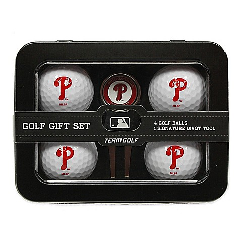 mlb philadelphia phillies 5 piece golf ball and divot tool. Black Bedroom Furniture Sets. Home Design Ideas