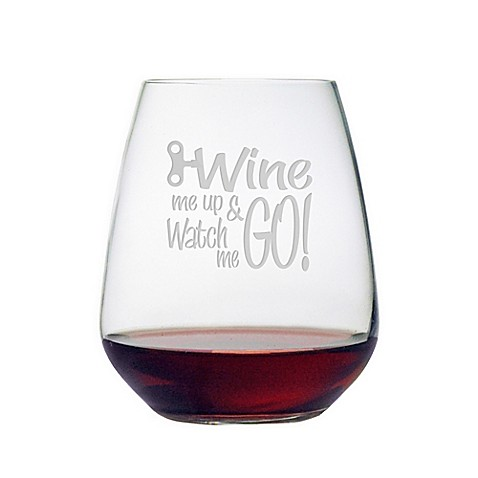 susquehanna wine me up watch me go stemless wine glass bed bath beyond. Black Bedroom Furniture Sets. Home Design Ideas