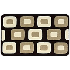 image of Nourison 30-Inch x 20-Inch Boxes Kitchen Rug in Black