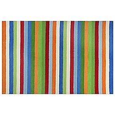 image of KAS Kidding Around Cool Stripes Area Rug in Multi