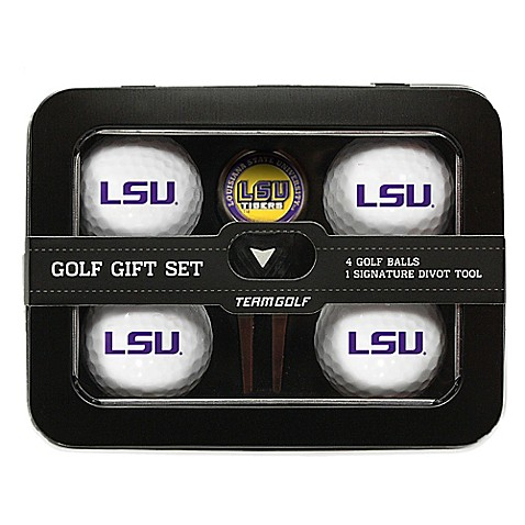buy lsu 5 piece golf ball and divot tool set from bed bath. Black Bedroom Furniture Sets. Home Design Ideas