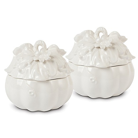 Fitz and Floyd® Bristol Lidded Pumpkin Soup Bowls (Set of 2)