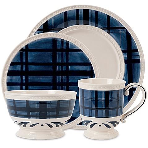 Fitz and Floydu0026reg; Bristol Indigo Tartan Dinnerware Collection  sc 1 st  Bed Bath u0026 Beyond & Fitz and Floyd® Bristol Indigo Tartan Dinnerware Collection - Bed ...