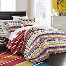 image of Chic Home Becky Reversible Duvet Cover Set