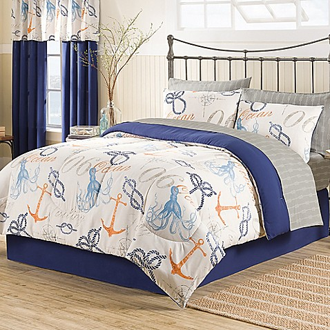 Nautical 6 8 Piece Comforter Set Bed Bath Amp Beyond