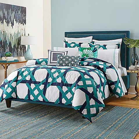 Trina Turk 174 Pacifica Pier Lattice Comforter Set Bed Bath