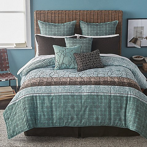 Bryan Keith Wildwood Comforter Set In Teal Bed Bath Amp Beyond