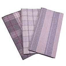 image of Belle Epoque La Rochelle Collection Plaid Heathered Flannel Sheet Set
