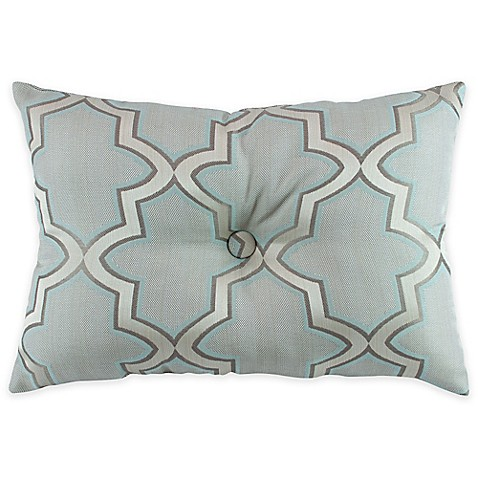 Simply Envogue Decorative Pillow : Buy Austin Horn En Vogue Glamour Oblong Throw Pillow in Spa Blue from Bed Bath & Beyond