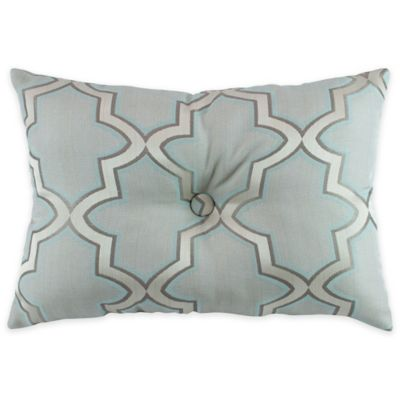 Buy Austin Horn En Vogue Glamour Oblong Throw Pillow in Spa Blue from Bed Bath & Beyond