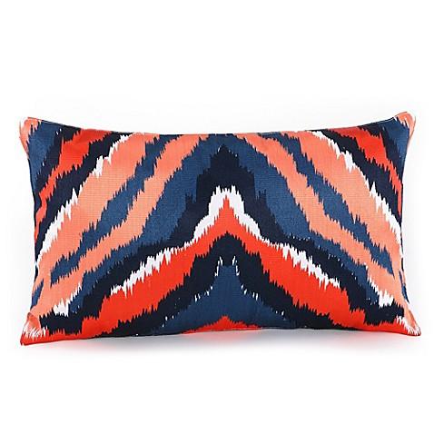 Trina Turk 174 Indigo Ikat Dyed Stripe Oblong Throw Pillow