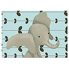 image of Oopsy Daisy Edison the Elephant Canvas Wall Art in Blue
