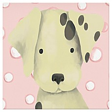 image of Oopsy Daisy Radley the Dalmation Canvas Wall Art in Pink