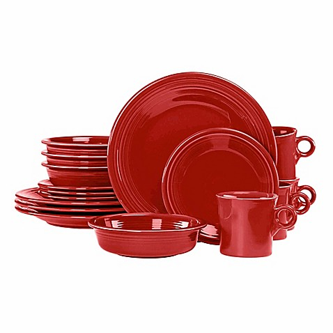 Fiestau0026reg; 16-Piece Dinnerware Set in Scarlet  sc 1 st  Bed Bath u0026 Beyond & Fiesta® 16-Piece Dinnerware Set in Scarlet - Bed Bath u0026 Beyond