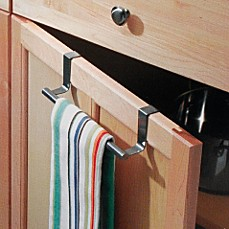 image of interdesign forma over the cabinet towel bar