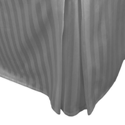 500 Thread Count Damask Stripe Bed Skirt