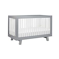 image of babyletto hudson 3in1 convertible crib in greywhite