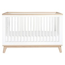 image of Babyletto Scoot 3-in-1 Convertible Crib in White/Washed Natural