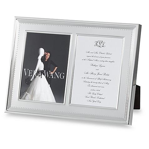 vera wang wedgwood grosgrain double 5 inch x 7 inch metal frame
