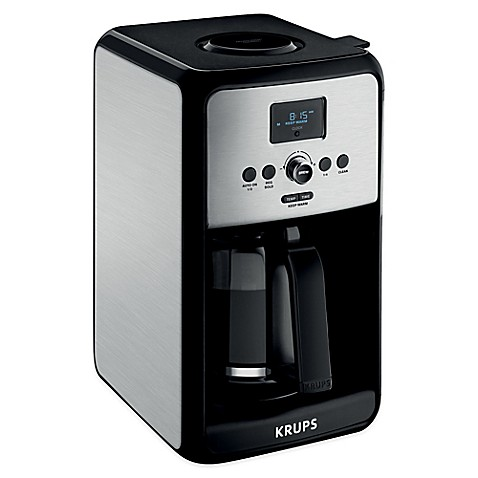 krups coffee makers krups 174 savoy 12 cup stainless steel coffee maker bed 11896