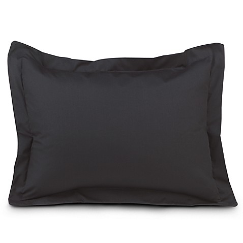 Smoothweave™ Tailored European Sham in Black