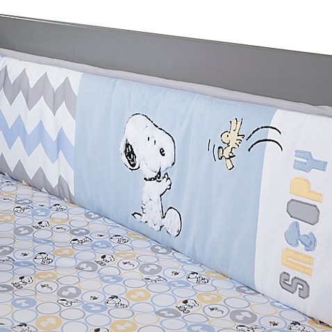 Lambs Amp Ivy 174 My Little Snoopy 4 Piece Crib Bumper Set