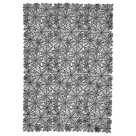 Heritage Laceu0026reg; Spider Web 60 Inch X 90 Inch Tablecloth In Black